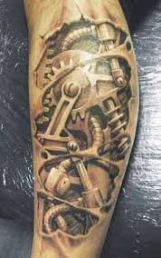 awesome biomechanical tattoo design of tattoosdesign of tattoos