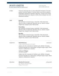 standard resume template standard resume sle free resume template word standard resume for