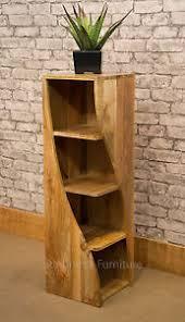 Natural Wood Bookcase Mango Wood Bookcase Ebay