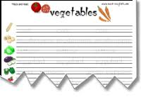 vegetables worksheets vegetables word searches board games