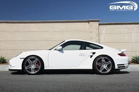 white porsche 911 turbo gmg racing lowering springs for 2005 08 porsche 911 turbo 997 1