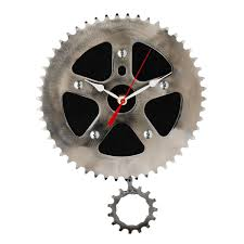 recycled pendulum wall clock bicycle clock gear chain graham