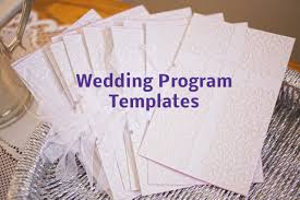 make your own wedding program something something new something you wedding program templates