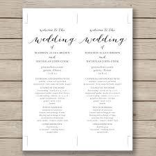 wedding program layout template free printable wedding ceremony program templates vastuuonminun