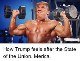 Merica Meme - how trump feels after the state of the union merica meme on