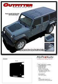 matte silver jeep outfitter jeep wrangler hood vinyl graphics decal stripe kit for