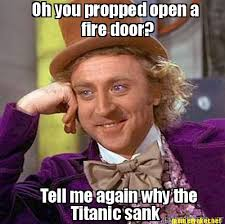 Titanic Door Meme - meme maker oh you propped open a fire door tell me again why the