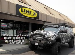 line x of orange county completely sprayed tundra with a custom