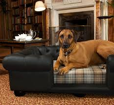 balmoral black faux leather dog sofa bed