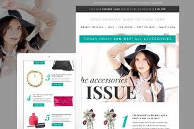 fashion newsletter template psd email templates creative market