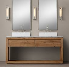 Restoration Hardware Bathroom Storage by Reclaimed Russian Oak Vessel Washstand Bath Collection Reclaimed