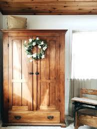 Shutter Door Cabinet Wardrobes Rustic Shutter Door Reclaimed Wood Armoire Wardrobe