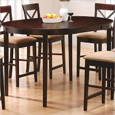 oval counter height dining table coaster hyde oval counter height dining table in rich dark
