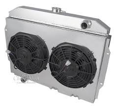 electric radiator fans and shrouds amc amx radiator aluminum 3 row chion shroud 2 12 fans relay