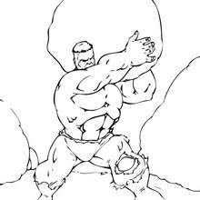 incredible hulk coloring pages hulk lifts barrel coloring pages hellokids com