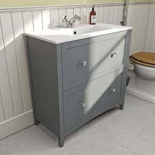 Vanity Basins Online Camberley Grey Vanity Unit With Basin 800mm Offer Pack Grey