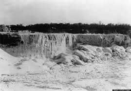 frozen niagara falls black white pretty