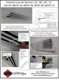 Ceiling Air Vent Deflector by Clear Linear Diffuser U0026 Air Diverter 1800ceiling