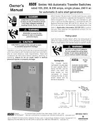 asco series 165 automatic transfer switch wiring diagram wiring