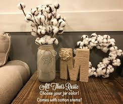 cotton stems rustic home decor cotton boll arrangement