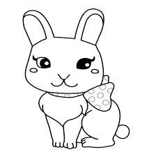 rabbit coloring pages kids eliolera