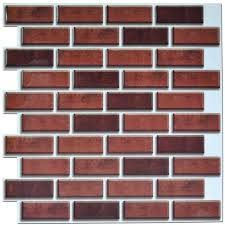 peel and stick tiles for kitchen backsplash peel and stick brick backsplash tiles kitchen smart tiles 5 8 sq