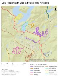 Lake Placid New York Map by Trail Study Group U2013 Lake Placid North Elba Community Development