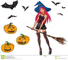 cartoon halloween picture halloween cartoon collection with witch bat and p stock photo