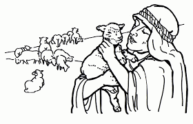 jesus the good shepherd coloring pages parable of lost sheep coloring pages coloring home
