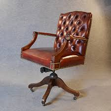Antique Swivel Office Chair by Antique Leather Desk Office Swivel Chair Antiques Atlas