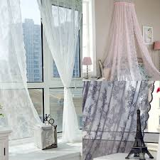 voile tulle curtains lace insect bed canopy netting curtain drape