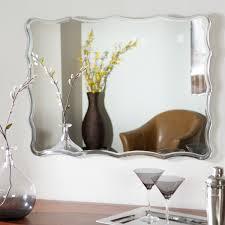peyton geometric frame accent wall mirror mirrors that mirror dcor wonderland frameless crystal wall mirror 235w x 315h in mirrors at hayneedle