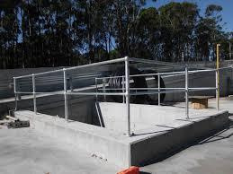 Galvanised Handrail Monowills Galvanised Pipe Handrails Chainwire Fencing Specialist
