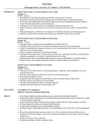 exle management resume mechanical engineering manager resume sles velvet