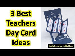 Designs Of Greeting Cards Handmade Teachers Day Card Ideas These Are 3 Best Handmade Greeting Cards