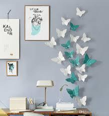 Hanging Home Decor Creative 3d Butterfly Resin Crafts Modern Art Wall Stickers Mural