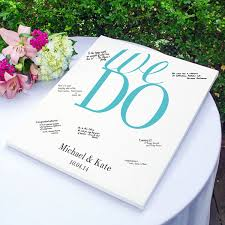 personalized wedding guest books personalized wedding vows gallery wrapped guest signature canvas
