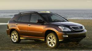 lexus rx wallpaper 2009 lexus rx 350 in brown at sea side photoshoot hd wallpaper