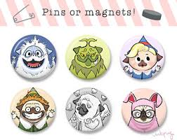 pug art pug cards funny cards pins and magnets by inkpug on etsy