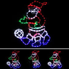 animated outdoor christmas decorations animated santa on bike rope lights silhouette outdoor christmas