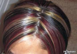 blonde hair with chunky highlights latest hairstyling trend of dark brown hair with blonde highlights