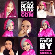 tutorial hijab pesta 2 kerudung tutorial hijab pesta segi empat 2 warna tutorial hijab paling