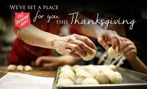 all are welcome for thanksgiving dinner the salvation army