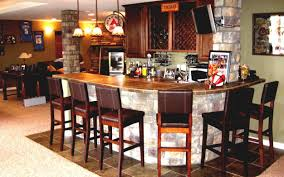 bar awesome corner bar in basement home bar pictures design