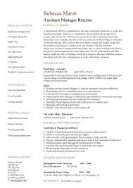 Retail Job Resume Objective by Assistant Manager Resume Objective The Letter Sample