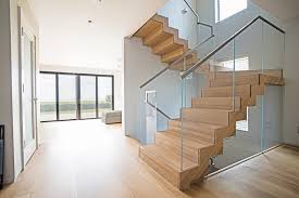 Glass Banisters For Stairs Floating Staircase Glass Railings In Juno Beach Bella Stairs