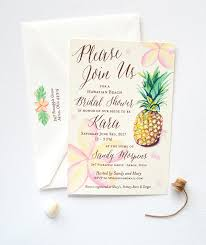 wedding shower invitations watercolor tropical pineapple bridal shower invitations