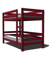 Free Twin Over Full Bunk Bed Plans by Simpler Bunkbed Diy But I Think Chris Wants Them To Be Able To