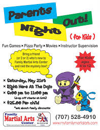 tomorrow is parents night out family martial arts center in