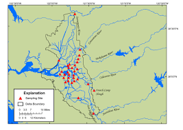 Map Of Sacramento Pesticide Fate Research Project
